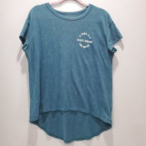 American Eagle Coffee Top Teal Size M P098